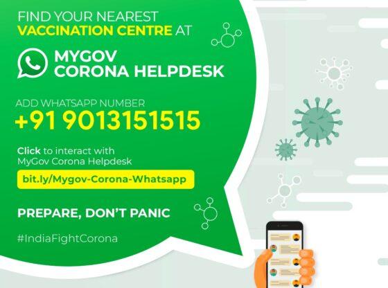 Find nearest COVID-19 vaccine center via WhatsApp