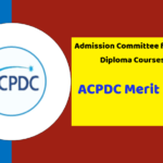 ACPDC Merit List