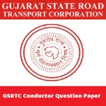 GSRTC Conductor Question Paper